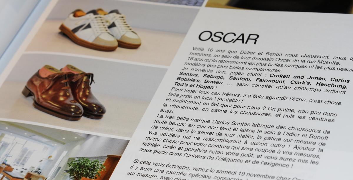 article sur Oscar dans le magazine dijonnais Big Bang
