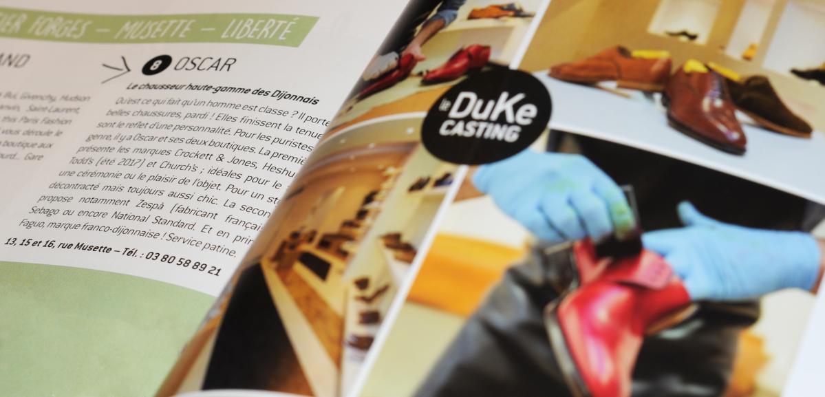 parution du Duke magazine ouvert sur l'article d'Oscar