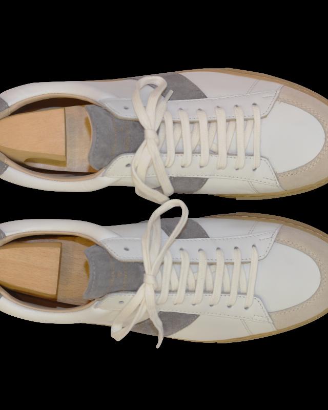 chaussure zespa en cuir blanc